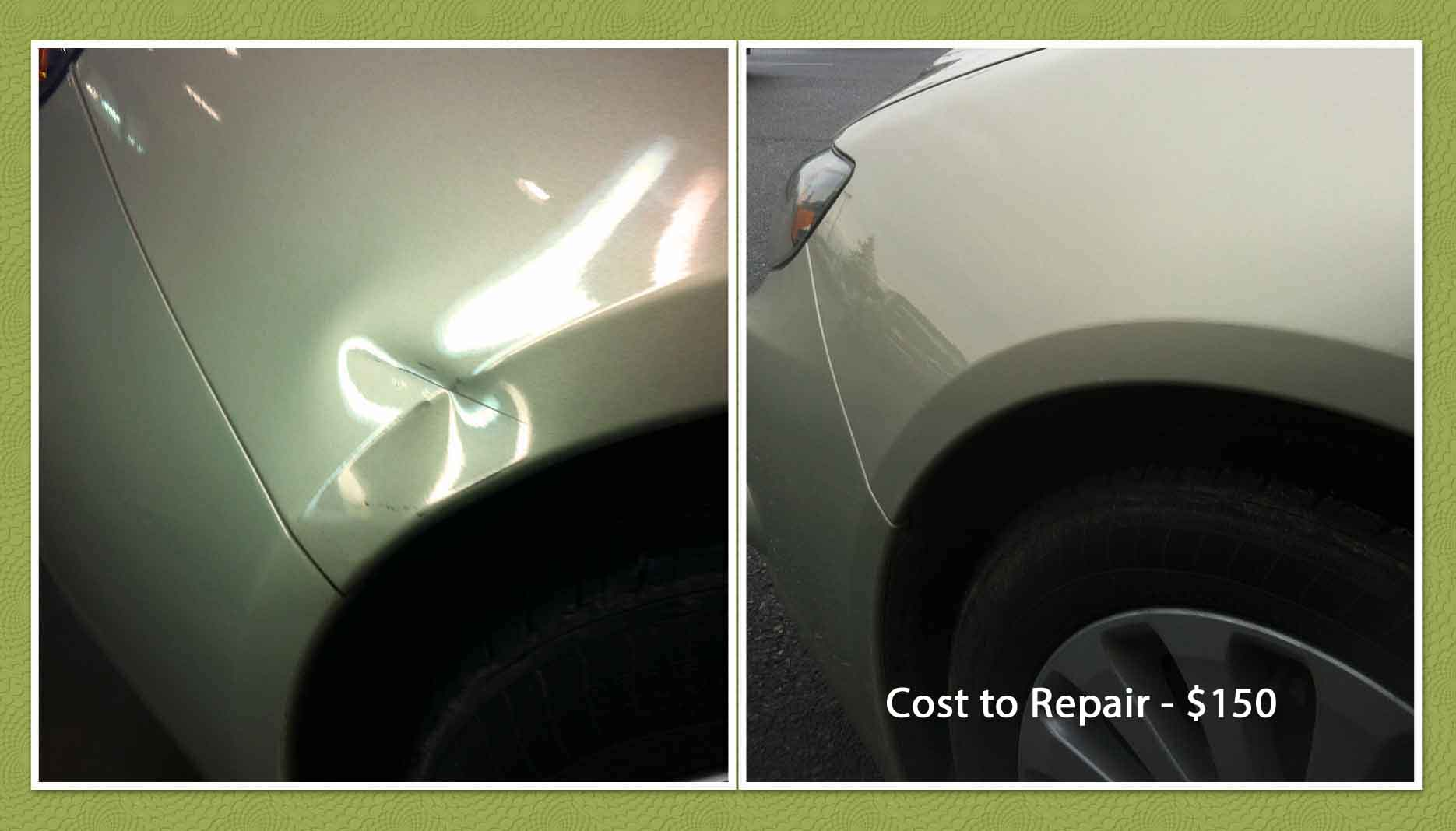 Impreza Paintless Dent Repair Hood River before after text
