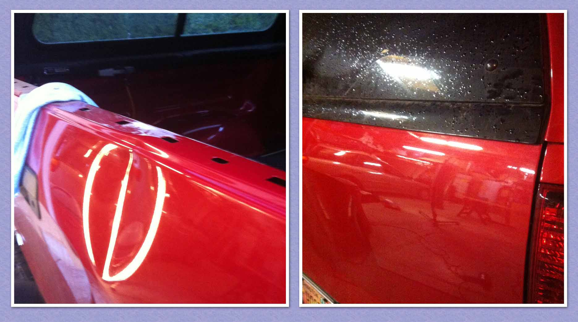 Red Tundra Dent Repair White Salmon before after