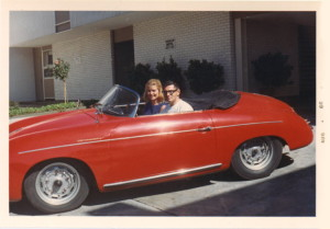 Mom and Dad in the Speedster