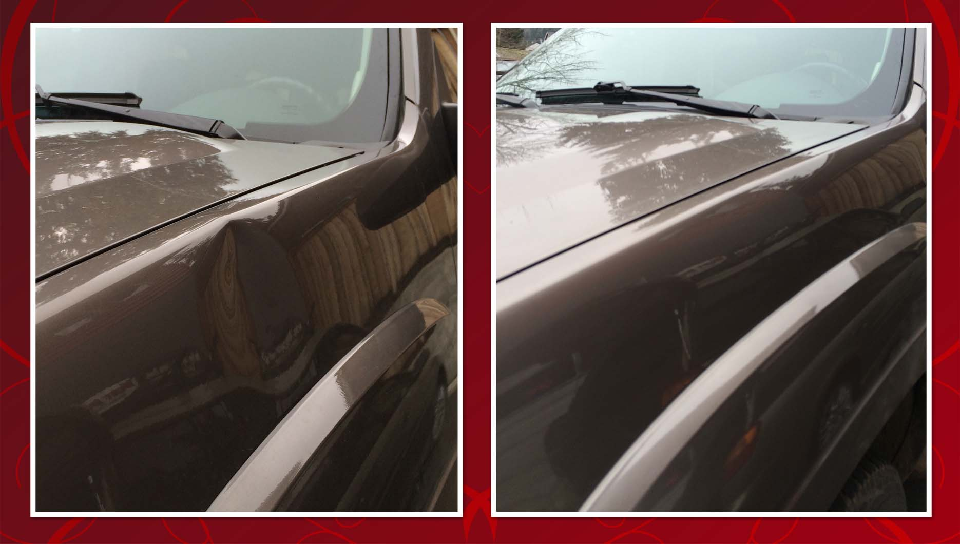 Suburban Fender Before After Dark Red